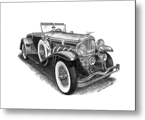 Classic Cars Metal Print featuring the photograph 1930 Duesenberg Model J by Jack Pumphrey