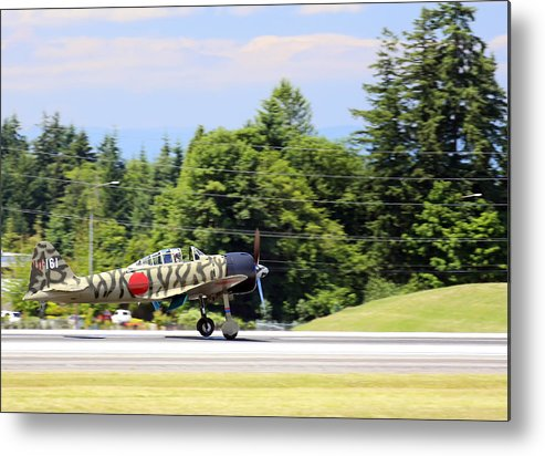 War Metal Print featuring the photograph Mitsubishi A6m3-22 Reisen Zero by Paul Fell