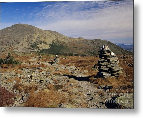 Hike Metal Print featuring the photograph Mount Washington - White Mountains New Hampshire by Erin Paul Donovan