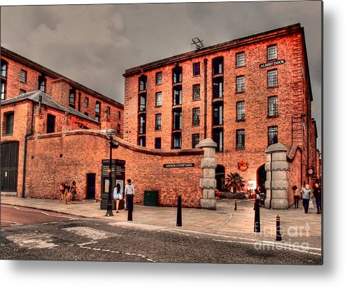 Architecture Metal Print featuring the photograph Albert Dock A Different View by Wobblymol Davis