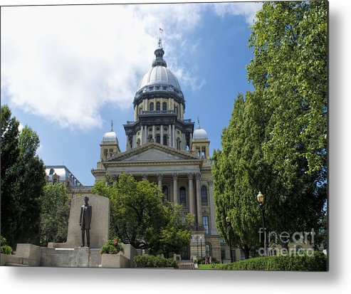 Springfield Metal Print featuring the photograph Illinois State Capitol - Luther Fine Art by Luther Fine Art