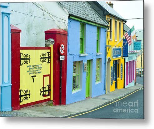 County Kerry Metal Print featuring the photograph Bright Buildings In Ireland by John Shaw