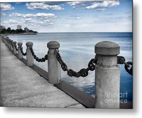 Chain Link Metal Print featuring the photograph Chain Linked by Barbara McMahon