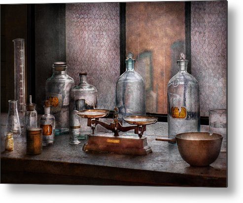 Hdr Metal Print featuring the photograph Chemist - The Art Of Measurement by Mike Savad