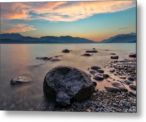 Beautiful Metal Print featuring the photograph Cogburn Beach Rocks by James Wheeler