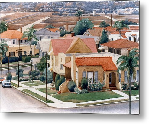San Diego Metal Print featuring the painting Corner Kalmia And Brant by Mary Helmreich