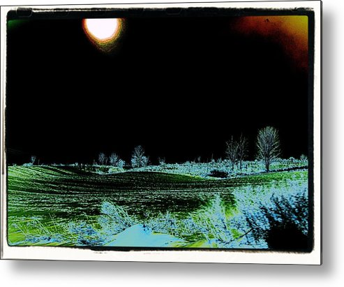 Sun Metal Print featuring the photograph Digital Field by Gary Pavlosky