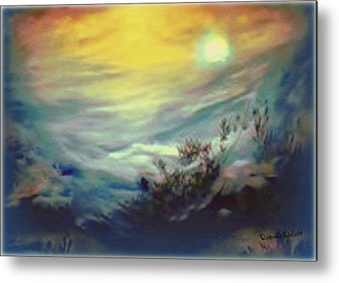 Dreamscape Metal Print featuring the mixed media Dreaming by YoMamaBird Rhonda