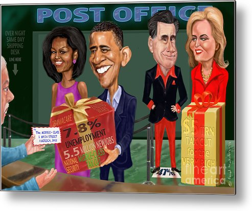 Obama Metal Print featuring the digital art Early X-mas Gift by Fred Makubuya