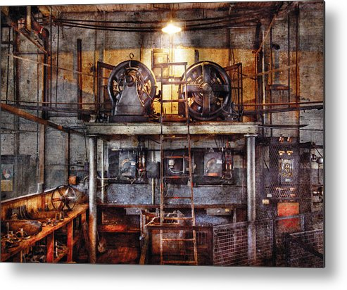 Savad Metal Print featuring the photograph Electrician - Turbine Station by Mike Savad