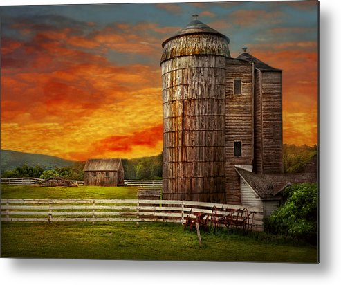 Farm Metal Print featuring the photograph Farm - Barn - Welcome To The Farm by Mike Savad