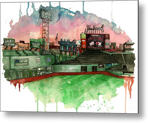 Fenway Park Metal Print featuring the painting Fenway Park by Michael Pattison
