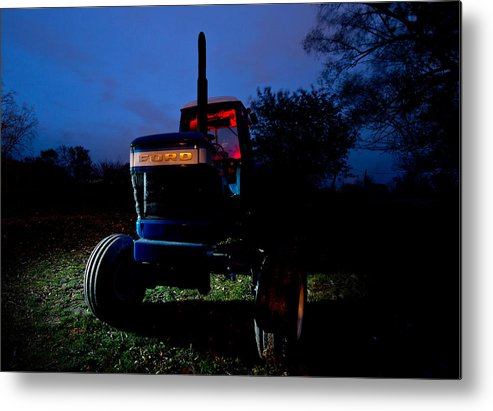 Tractor Metal Print featuring the photograph Ford Tractor by Cale Best