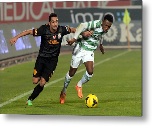 Sport Metal Print featuring the photograph Galatasaray V Celtic - Turkish Airlines Antalya Cup Final by Anadolu Agency