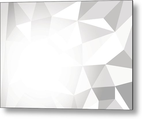 Gray And White Color Polygon Abstract Background, Vector Illustration Metal  Print