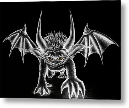 Demon Metal Print featuring the painting Grevil Chalk by Shawn Dall