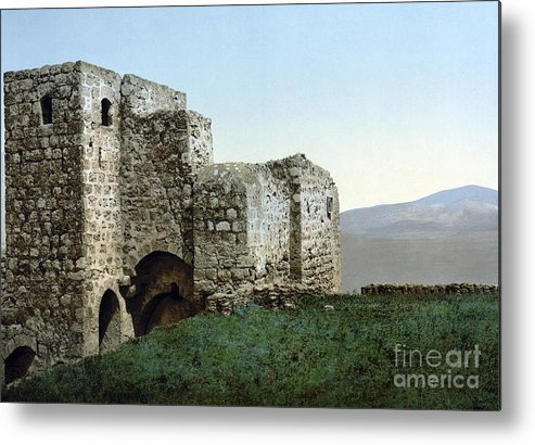 1895 Metal Print featuring the photograph Holy Land: Ruins by Granger
