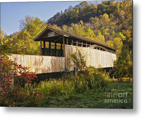 Covered Bridges Metal Print featuring the photograph Jackson Mill Covered Bridge by Timothy Flanigan