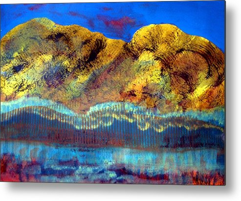 Landscape Metal Print featuring the painting Landscape 130214-1 by Aquira Kusume