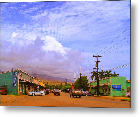 Kaunakakai Metal Print featuring the photograph Main Street Kaunakakai by James Temple