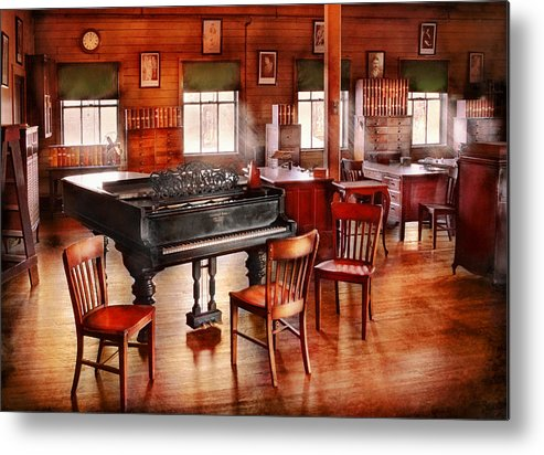 Savad Metal Print featuring the photograph Music - Piano - The Grand Piano by Mike Savad