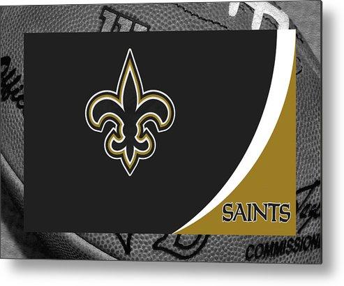 Saints Metal Print featuring the photograph New Orleans Saints by Joe Hamilton