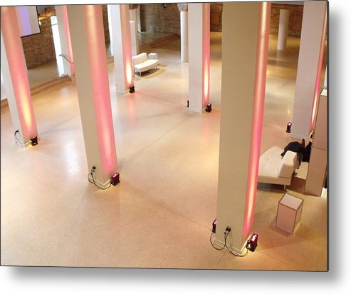 Chicago Metal Print featuring the photograph Pink Pillars I by Anna Villarreal Garbis