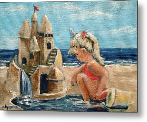 Little Girl Metal Print featuring the painting Princess by Dyanne Parker