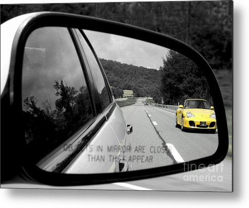 Porcshe Metal Print featuring the photograph Rearview by Chad Thompson