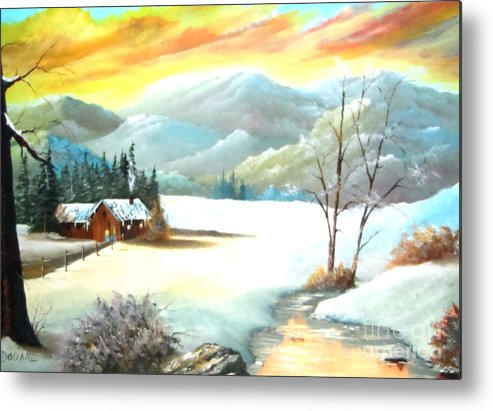 Snow Metal Print featuring the painting Snowy Country by Amede Doualle