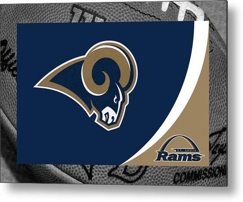 Rams Metal Print featuring the photograph St Louis Rams by Joe Hamilton