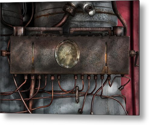 Hdr Metal Print featuring the photograph Steampunk - Connections  by Mike Savad