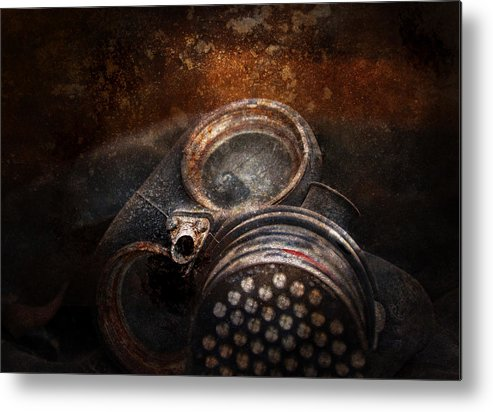 Hdr Metal Print featuring the photograph Steampunk - Doomsday by Mike Savad