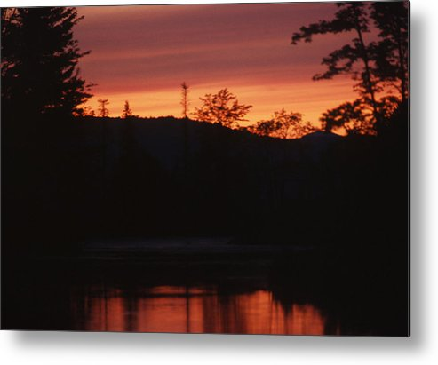 Sunset Metal Print featuring the photograph Sunset On The Lake by Brian Lucia