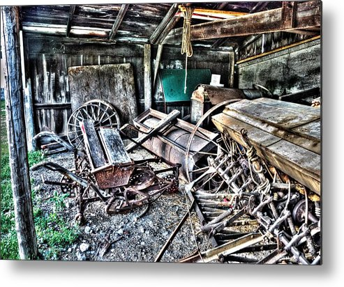 Farm Metal Print featuring the photograph Tools Of The Trade by Dawn Dasharion