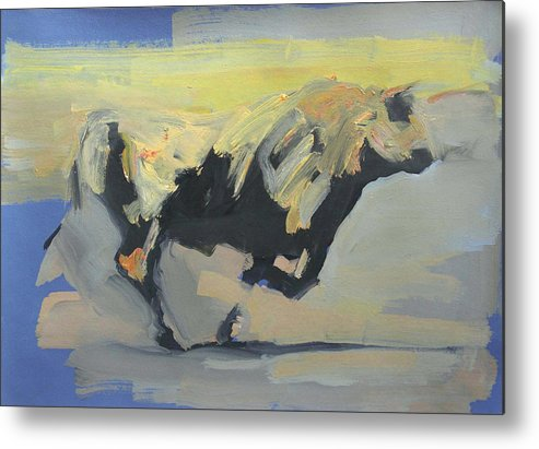 Bull Metal Print featuring the painting Toro Study by Zil Hoque