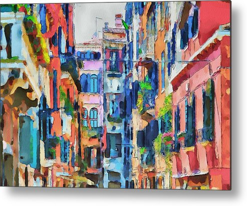 Venice Metal Print featuring the digital art Venice Crazyness by Yury Malkov