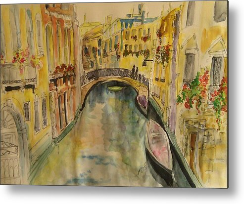 Venice Metal Print featuring the painting Venice I. by Paula Steffensen