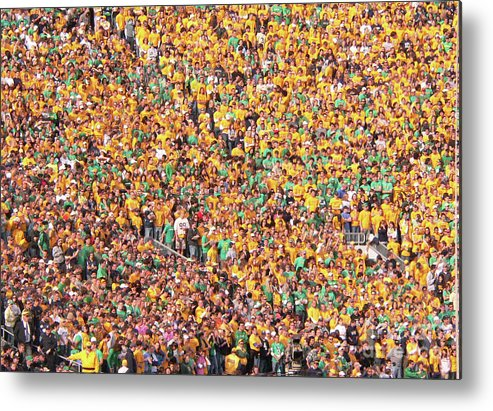 Notre Dame Metal Print featuring the photograph Where's Waldo by David Bearden