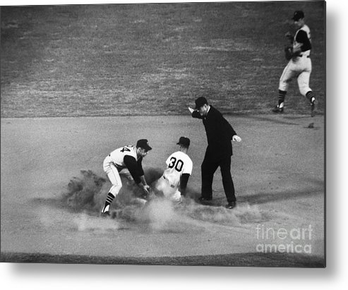 1962 Metal Print featuring the photograph Maury Wills (1932- ) by Granger