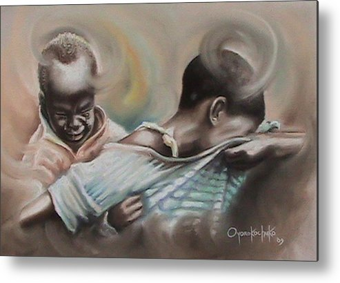 Painting Metal Print featuring the painting A Day To Remember by Oyoroko Ken ochuko