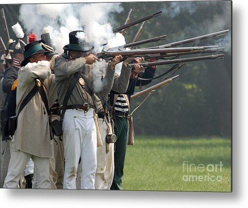 Siege Metal Print featuring the photograph Battle 31 by JT Lewis