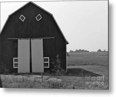 Barn Metal Print featuring the photograph Big Tooth Barn Black And White by Pamela Walrath