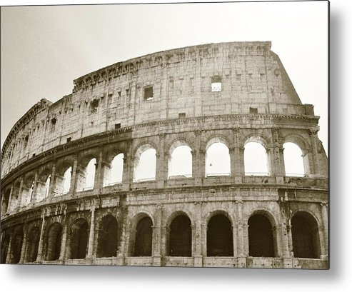 Rome Metal Print featuring the photograph Coloso - Sepia by Heather Marshall