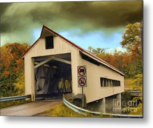 Covered Bridges Metal Print featuring the photograph Covered Bridge 2 by Tom Griffithe