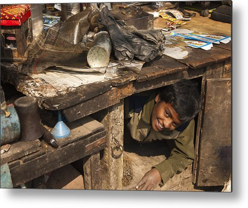 Photo Metal Print featuring the photograph Hide And Seek by Sourjya Roy