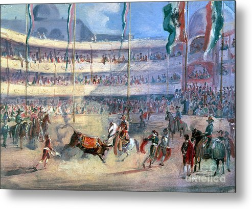1833 Metal Print featuring the photograph Mexico: Bullfight, 1833 by Granger