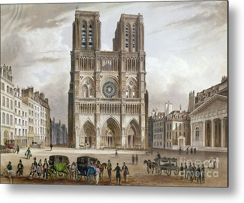 1820s Metal Print featuring the photograph Paris: Notre Dame, C1820s by Granger