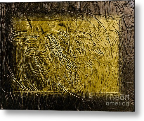 Metal Print featuring the digital art Signature by Mihaela Stancu