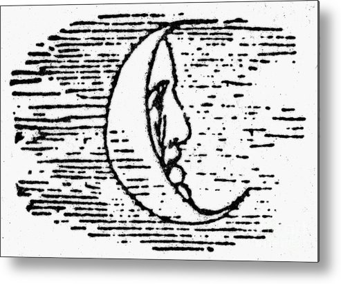 1849 Metal Print featuring the photograph The Man In The Moon by Granger